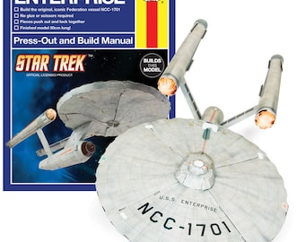 Craft Gift idea for Thanksgiving DIY Star Trek USS Enterprise make your own kit,  Ideal gift for Sci-Fi lovers, Great Present for Dad