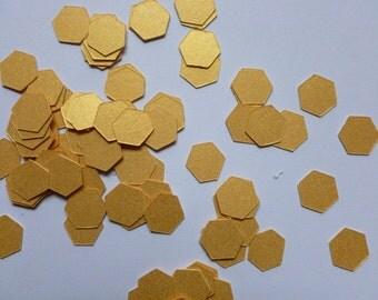 Gold Geometric Metallic Shimmer Confetti | Geometric Party Decor | Gold Confetti