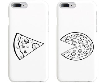 Slice & Pizza Couple Phone Case Mate - iPhone, Samsung Galaxy Phone Cases for Couples - Matching Phone Case