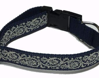 Dog Collar, French General- Ecru
