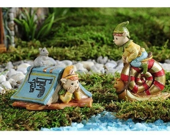 Fairy Garden  - Enchanted Forest Pixies Set of 2 - Miniature