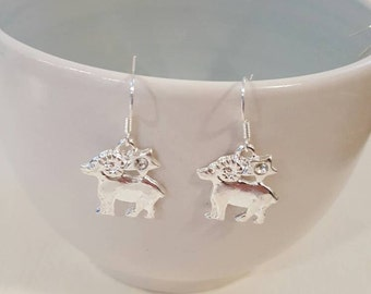 Aries earrings, Aries jewelry, gift for her, Ram earrings, Zodiac earrings, gift for mom, Ram jewelry, birthday gift, zodiac jewelry