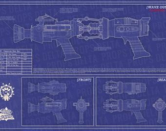 Black Ops Zombies: WAVE GUN BLUEPRINTS (Physical copy)