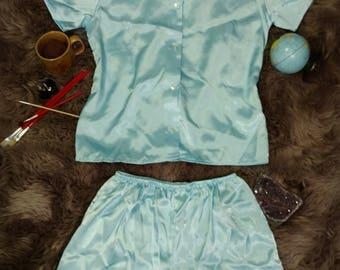Silky Vintage Two Piece Pajama Set