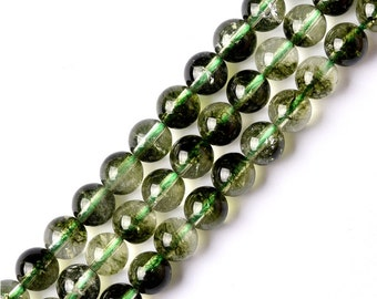 DIY Phantom Green Crystal Loose Beads Wholesale 37cm string (Bead Size:6mm-14mm)-WEN37937020634-MAD