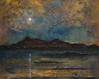 Arran Summer Moonlight - Original Oil Painting On Canvas