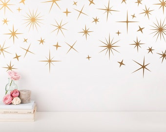 Nursery Wall Decals Etsy - Nursery wall decals stars