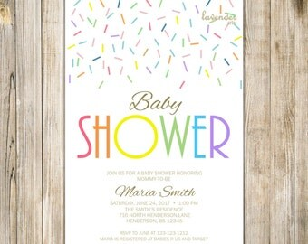 RAINBOW BABY SHOWER Invitation, Baby Boy Girl Shower Sprinkle Invite Printable, Rainbow Couple Couples Shower Invitations, Meet & Greet