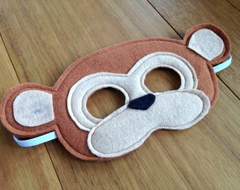 Soft Felt Monkey Mask / Costume