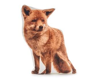 Fox, Fox Cushion, Fox Pillow, Farm House Decor,  Farm Animal, Nursery Gifts, Woodland Animal Gift, Fox Gift, Throw Pillows,