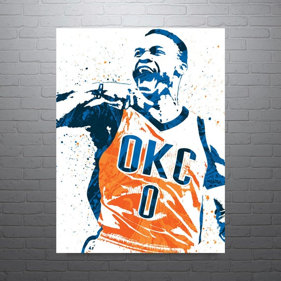 Russell Westbrook OKC Thunder Sports Art Print Basketball