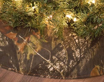 Camo Christmas Tree Skirt-Mossy Oak-Christmas Tree-Holiday Decor-Hunting-Camping-Woods-Mossyoak-Camouflage-Camo Tree Skirt-Tree Skirt-50""
