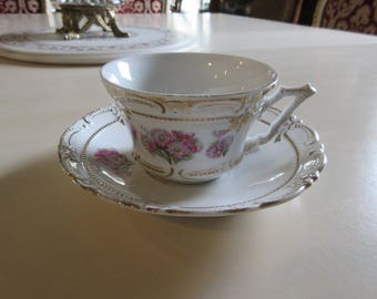 ANTIQUE TEACUP and SAUCER Set