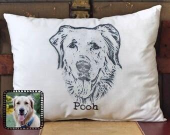 Custom Photo Pillow, Picture Pillow, Dog Pillow, Custom Pillow, Personalized Pet Pillow, Pet Pillow, pet memorial, Custom pet gift, dog gift