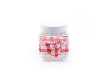 jar country cottage with decorative button h. cm11