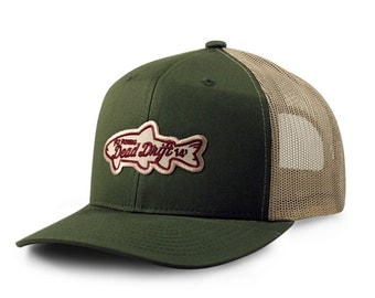 Fly fishing hat colorado flag snap back mesh trucker navy by for Fishing snapback hats
