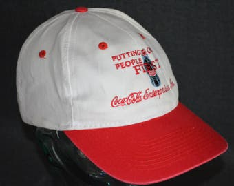 Vintage Coca-Cola Enterprises Inc: Putting Our People First Snapback Baseball Cap Hat (One Size Fits All)