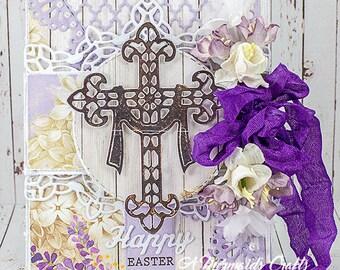 Happy Easter Cross Card