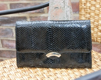 1980's Snakeskin Clutch Bag