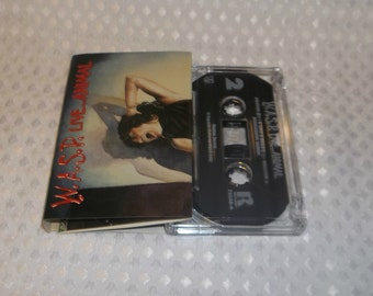 WASP Cassette Tape Live Animal Heavy Metal 1987 Blackie Lawless Motley Crue Related 80's Hair Rock