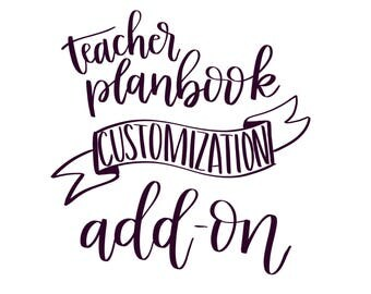 PRIMARY TEACHER PLANBOOK Page Customization Add-On
