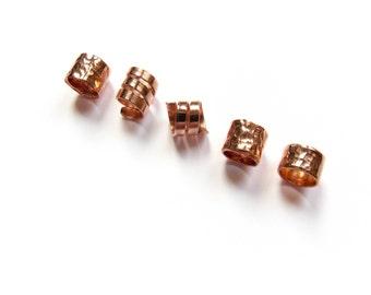 Beard Beads, Copper Beard Jewel, Viking Hair Beard Beads Jewellery, Beard Rings, Mini Viking Beard Beads, Jewelry Gift, IvoStyleLine