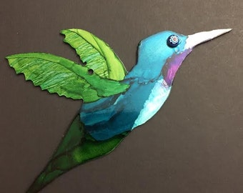 Aluminum had painted Humming Bird
