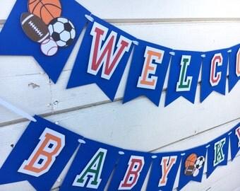Sports Theme Banner | Babyshower Decor | Birthday Decor | Custom Banner | Sports Banner