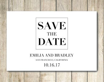 Save The Date - Custom Postcard