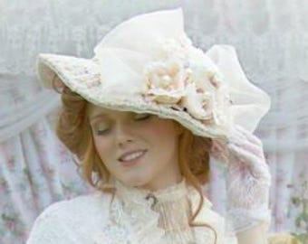 Formal French Style Victorian Bridal Wedding Hat
