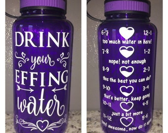 Drink your EFFING water bottle - work out motivational intake tracker