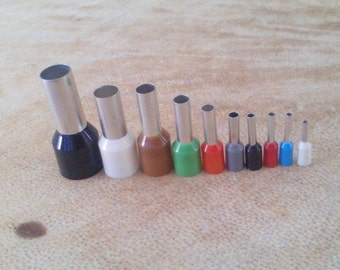 Set of 10 mini cutters. Polymerclay tools. Dot clay cutters. Clay tools.