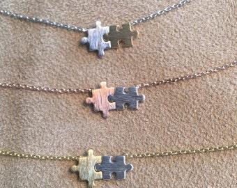 Autism Awareness Puzzle Piece Necklace// Puzzle Piece // Autism // puzzle jewelry // autism jewelry