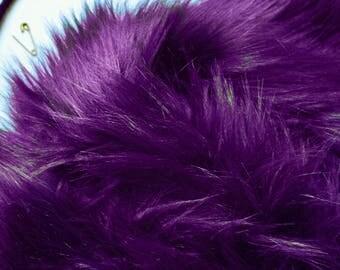 Purple Cosplay Fur FREE SHIPPING, Fuzzy Purple Fur, Purple Fur Fabric, Fluffy Purple Fur, Furry Purple Fur, Purple Costume Fur