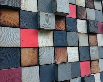 Wall Art - Wood Wall Art - Reclaimed Wood Art Sculpture - 3D Wall art