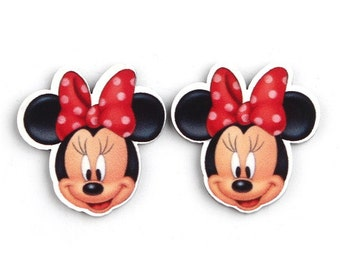 10 pcs Minnie Mouse Resin Flatbacks for Scrapbooking