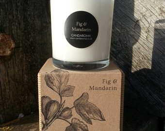 Handmade Fig and mandarin Scented Soy Candle