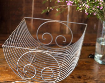 Vintage French Metal Dish Rack - Pretty Curves - Country Kitchen - Free Shipping Within the USA