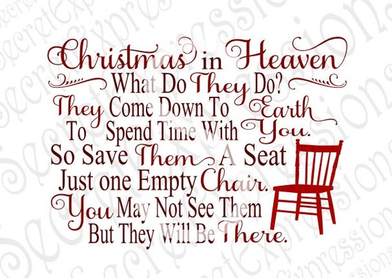 This is a photo of Tactueux Christmas in Heaven Poem Printable