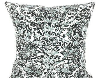 Grey Black Decorative Throw Pillow Covers, Cushions Cool Gray Black White Shiloh, Pillows for Couch Bed, Throw Pillow, One or More All Sizes