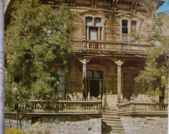 Vintage postcard.Vintage USA postcard.Virginia.Nevada.Savage Mining Co. Office.Old building.USA architecture.Gingerbread.Old Virginia city.