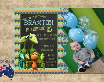 Printable Dinosaur Train Party Invitation Dino Party