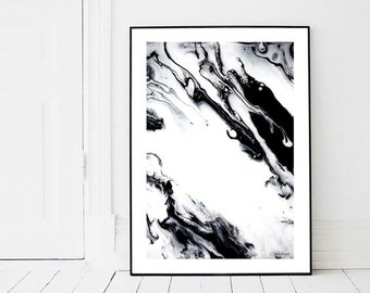 Marble II Print (Paint, Acrylic, Abstract, Fluid Painting, Wall Art, Home Decor, and Unframed)