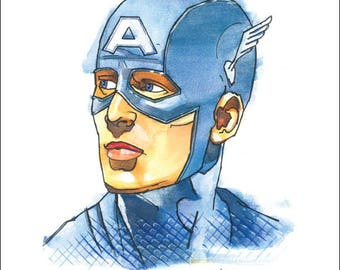 "Captain America Print by Kevin L. Kuder - 8.5""x11"""
