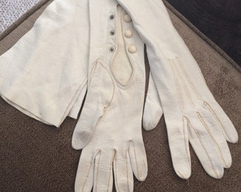 Leather Women's Vintage Long Gloves