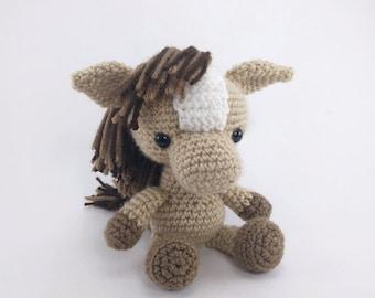 PATTERN: Crochet horse pattern - amigurumi horse pattern - farm animal - crochet pony pattern - PDF crochet pattern