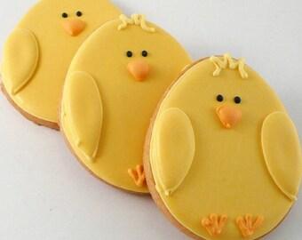 1 dozen Easter Chick Cookies