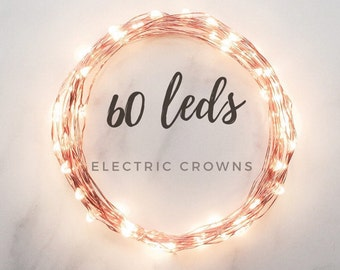SALE! Copper String Lights, Copper Fairy Lights, Summer Wedding, Lighting, Romantic Wedding Lights Rustic Decor 12ft Long