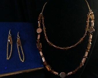 Golden Amber Jewelry Set
