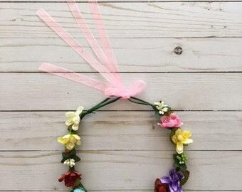 Flower Crown - Floral Headband - Photo prop - Photography prop - Toddler headband - Girls Headband - Toddler Crown - Photo Crown
